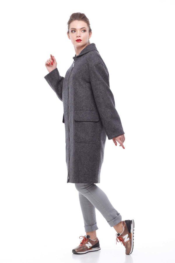 пальто Аллегра, шерсть Италия, темно-серый