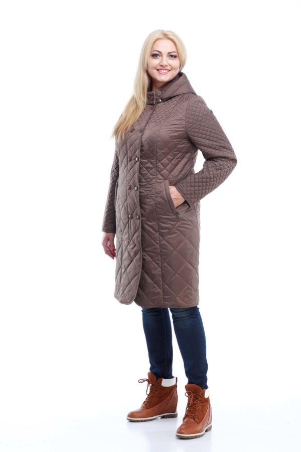 Пальто стьогане Аннет, memory oil бронза