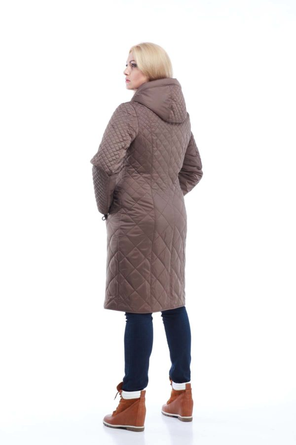Пальто стеганое Аннет, бронза