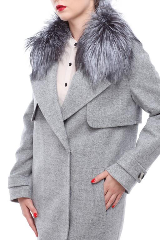 """Зимове пальто Феліція Зима, вовна """"nick"""" сірий"""