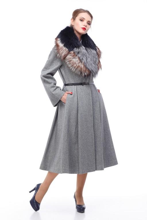 Зимове пальто Каміла хутро