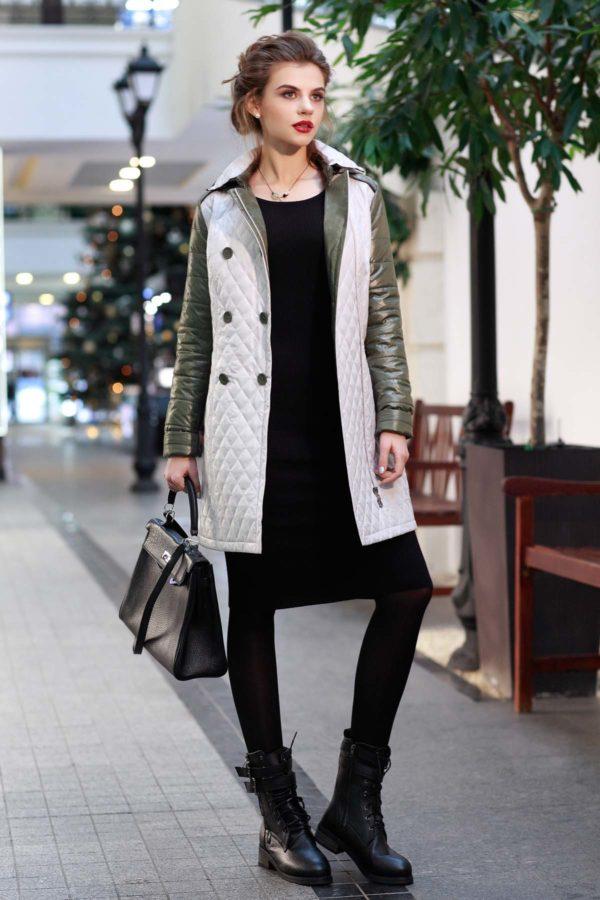 Куртка Диана пломбир+светлый хаки