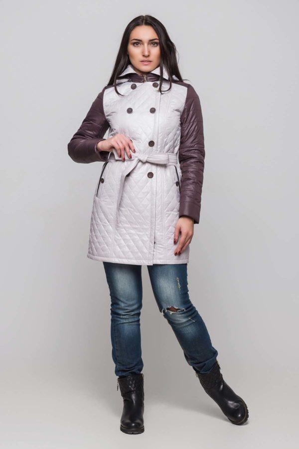 Куртка Диана пломбир+темный шоколад