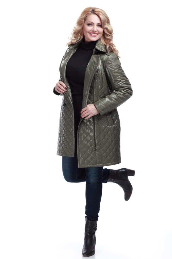 Куртка Диана светлый хаки