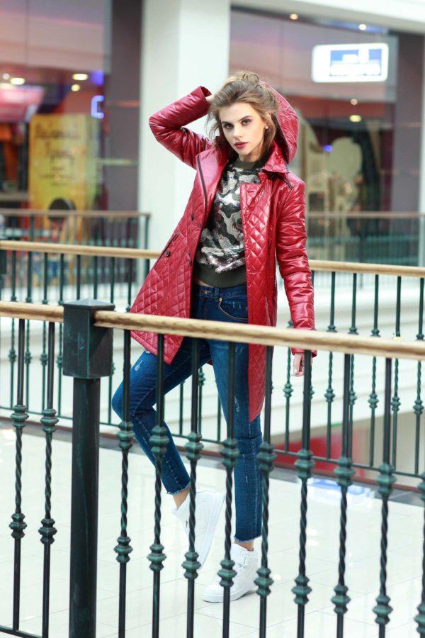 Куртка Диана темно-красный