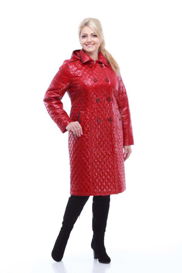 Пальто Диана удлин. темно-красный