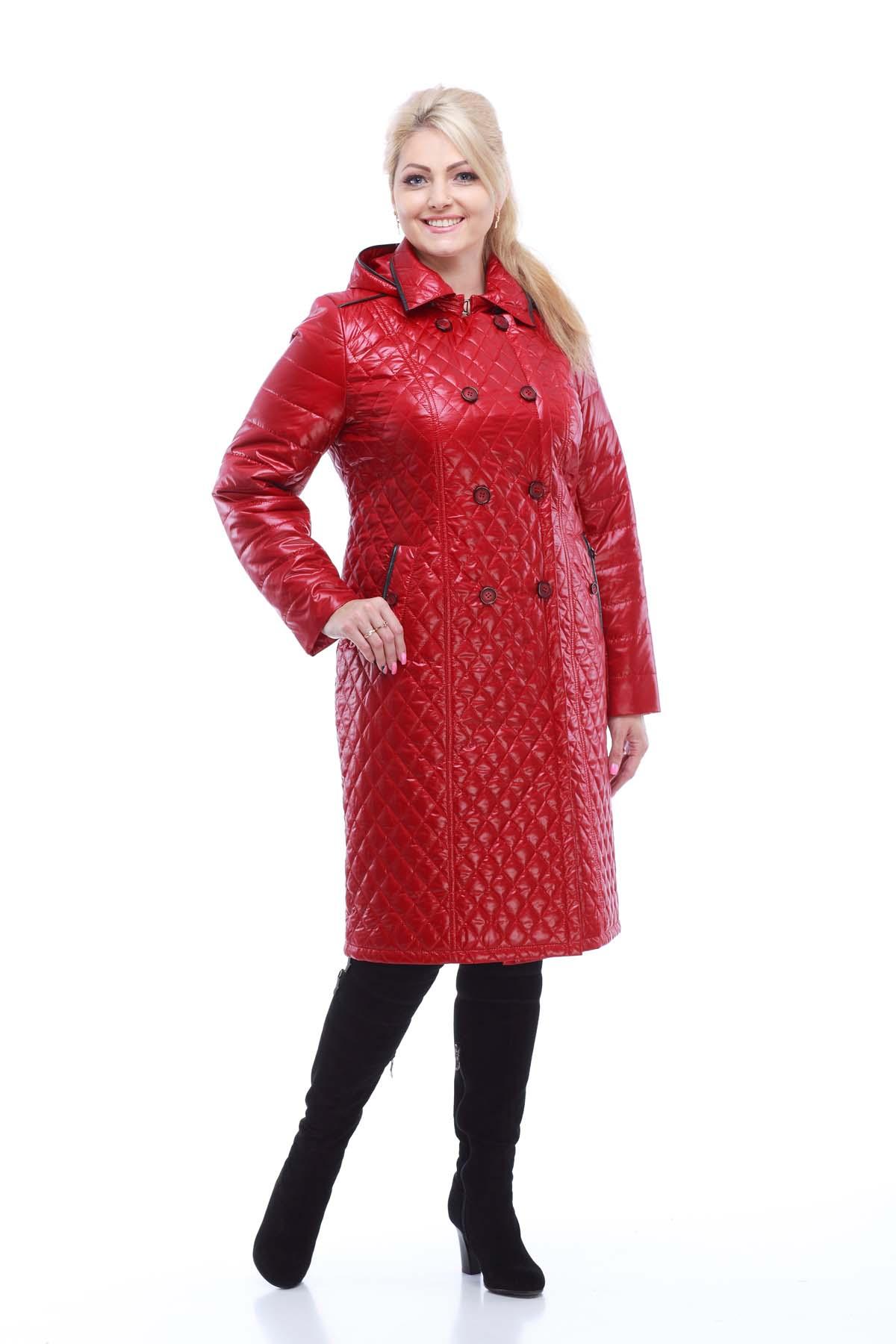 Пальто Диана довге темно-червоне