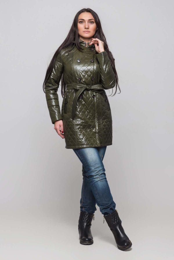 Куртка Диана темный хаки