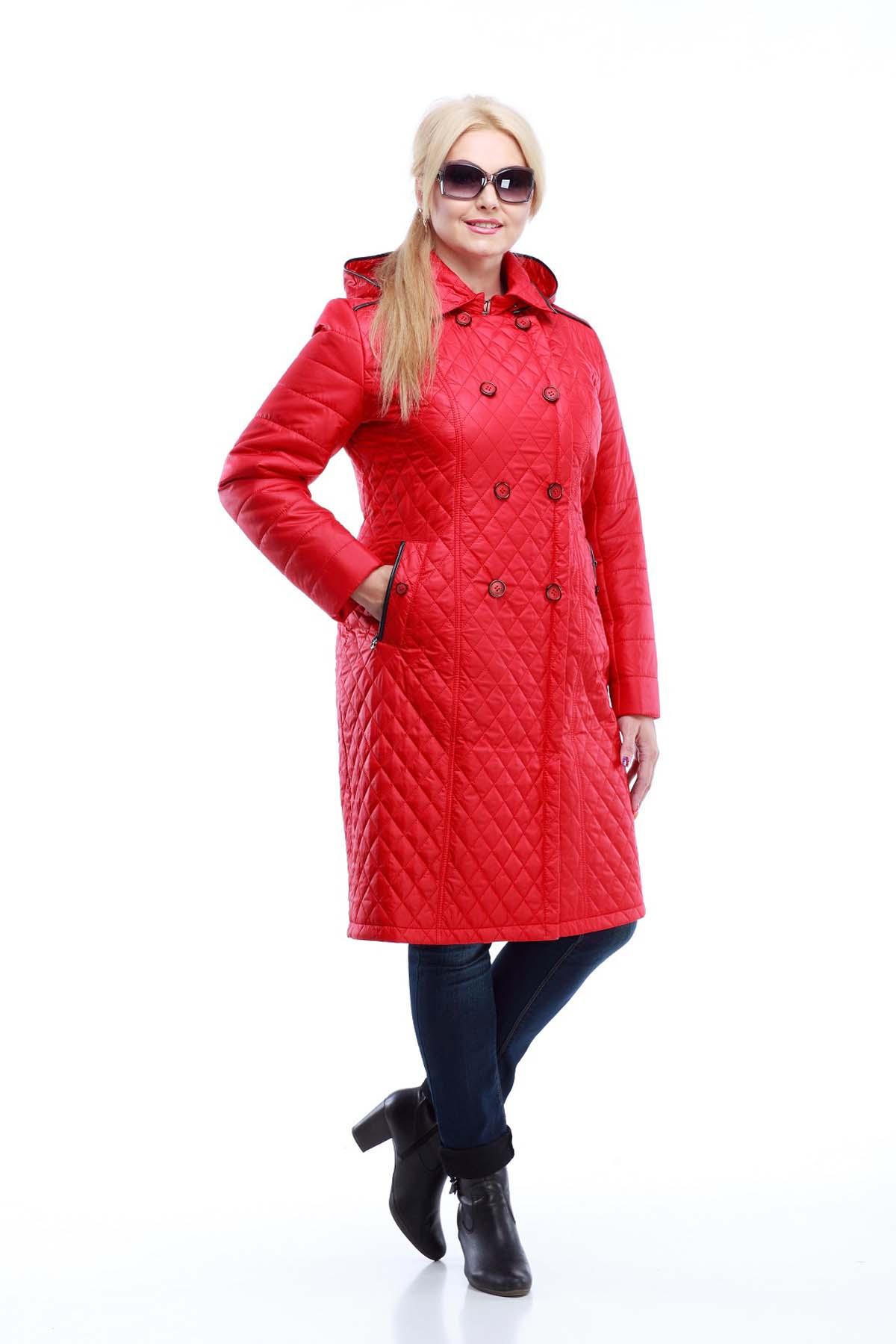 Пальто Диана довге червоне