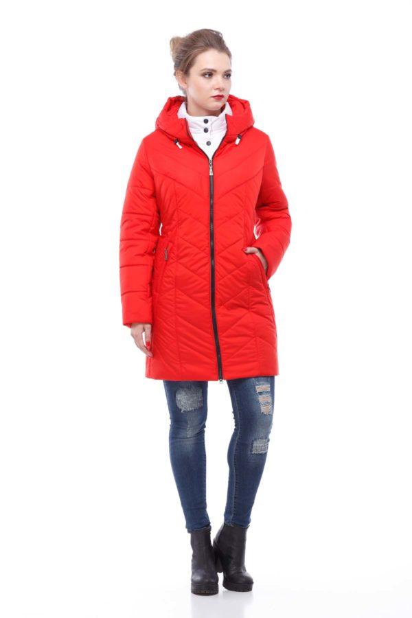 Куртка Стела ful dal оранжево-красный матовый