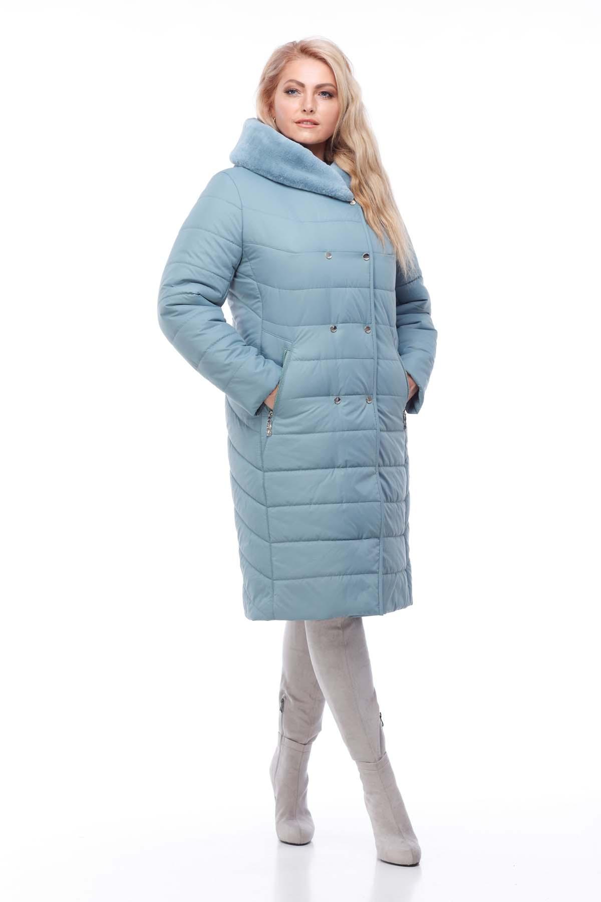 aa522f836ac Зимнее пальто Ким кролик Зима аквамарин