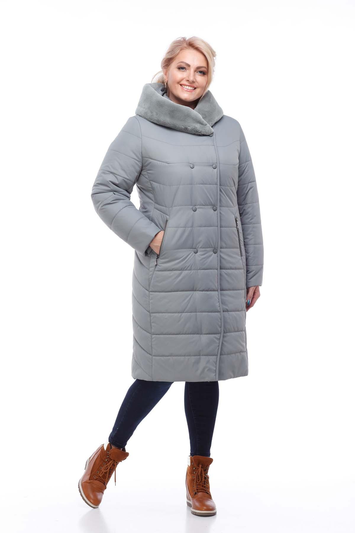 Зимове пальто стьогане Кім Зима, кролик фісташки