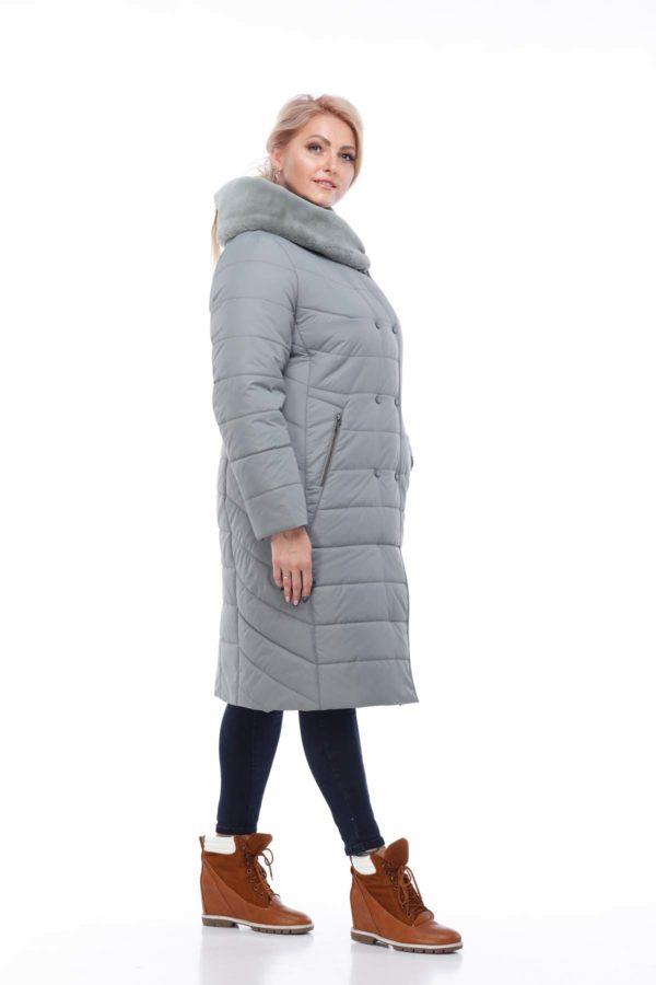 Зимнее пальто Ким кролик Зима фисташки