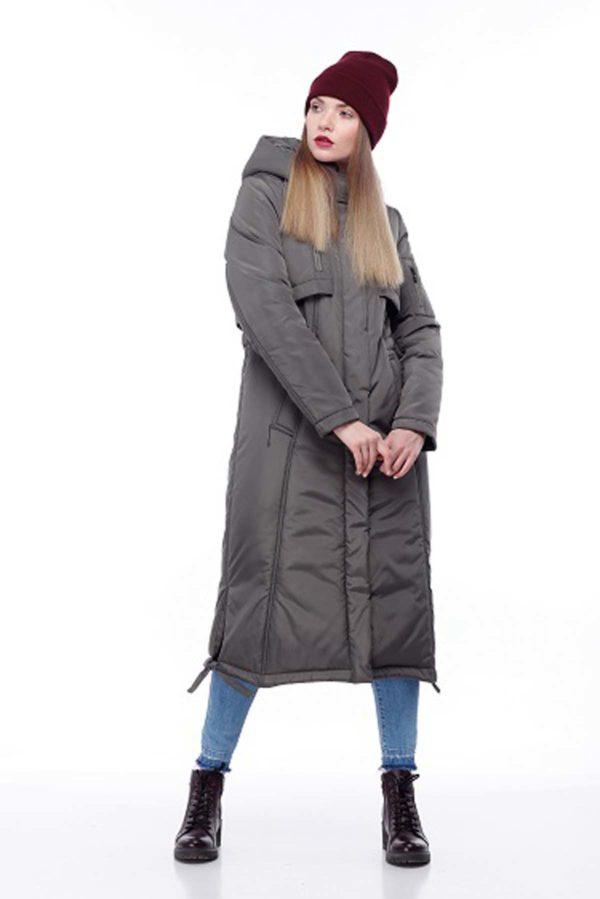 Зимове пальто стьогане Кенді хакі