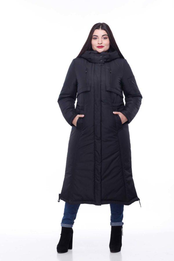 Зимове пальто стьогане Кенді чорний