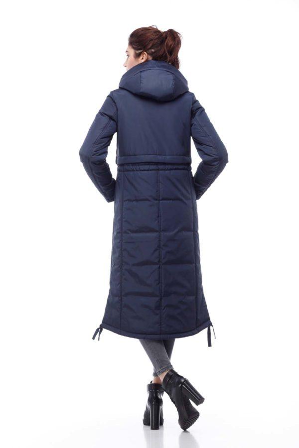 Зимове пальто стьогане Кенді темно-синій