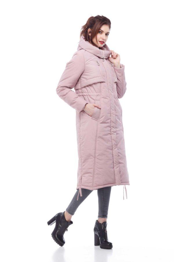 Зимнее пальто стеганое Кэнди, пыльная роза