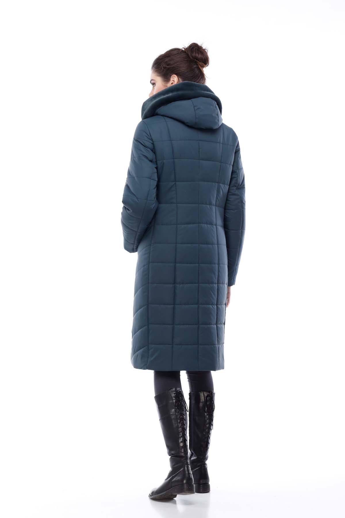 Зимове пальто стьогане Кім Зима, кролик бутилка