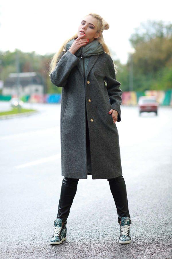 Зимнее пальто Манхэттен, шерсть фисташки