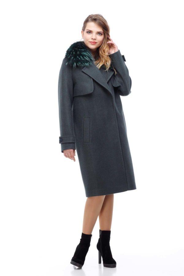 Зимние пальто Фелиция шерсть nick бискайский залив