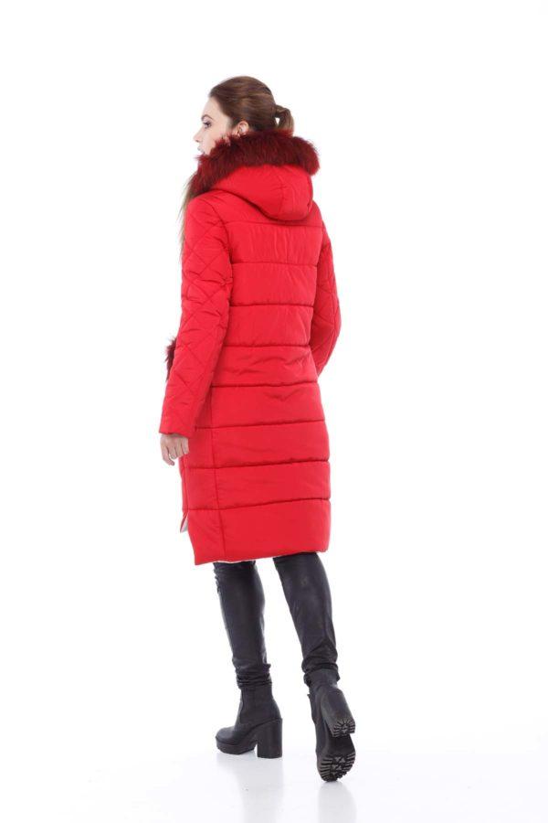 Зимове пальто стьогане Монтата фісташки яскраво-червоний