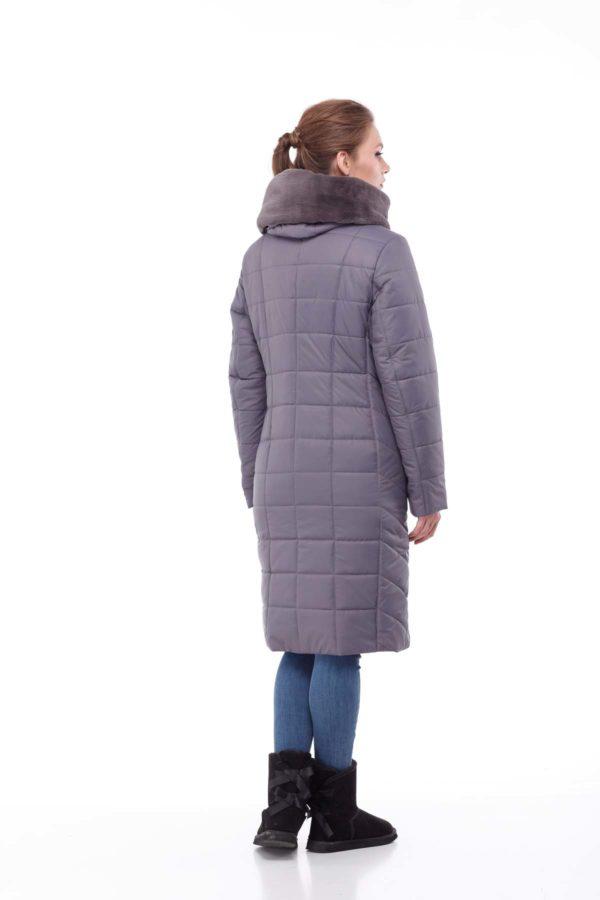Зимнее пальто Ким кролик Зима антрацит
