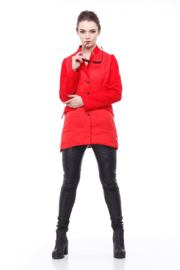 Куртка Лейла палт. ярко-красный