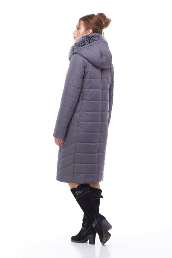 Зимнее пальто Ким песец антрацит
