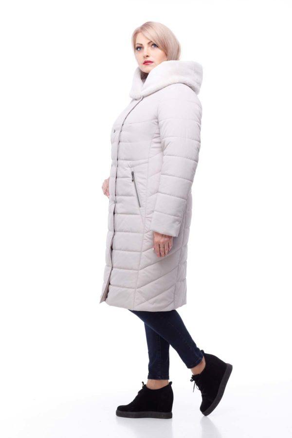 Зимнее пальто Ким кролик Зима пломбирный