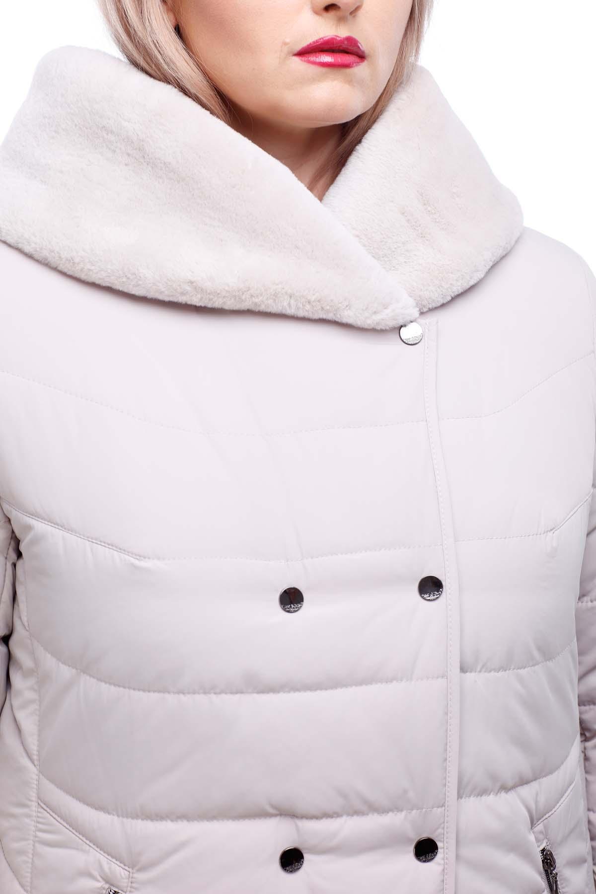Зимове пальто стьогане Кім Зима, кролик пломбир