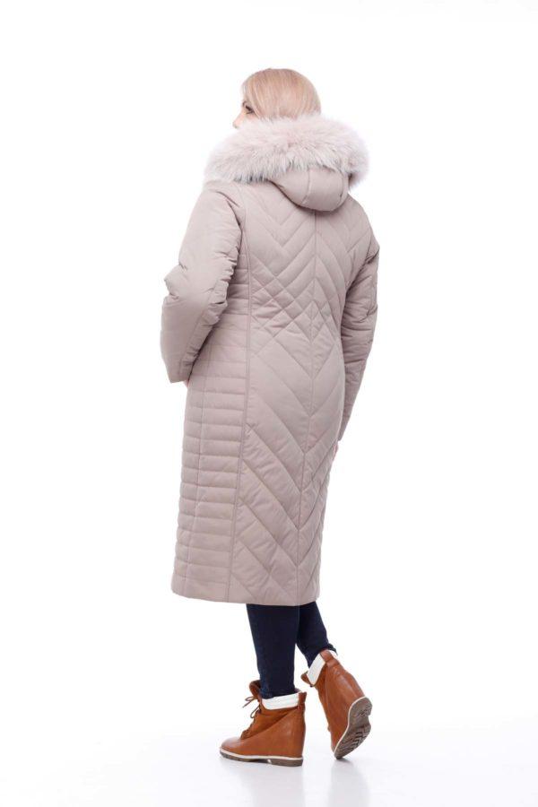 Зимнее пальто Мира песец Зима латте
