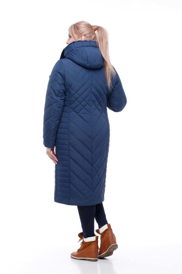 Зимнее пальто Мира мутон Зима темно-синий