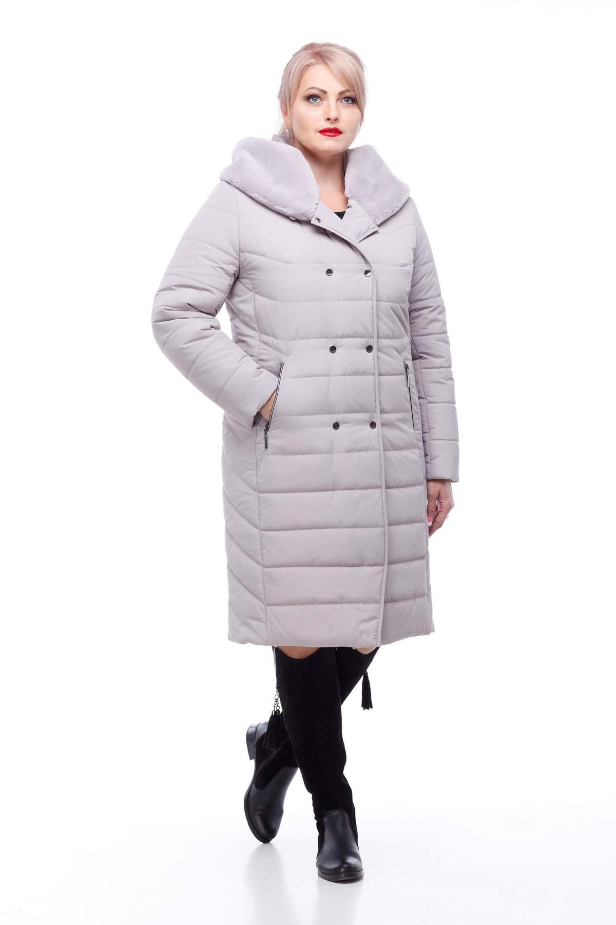 Зимове пальто стьогане Кім Зима, кролик лаванда