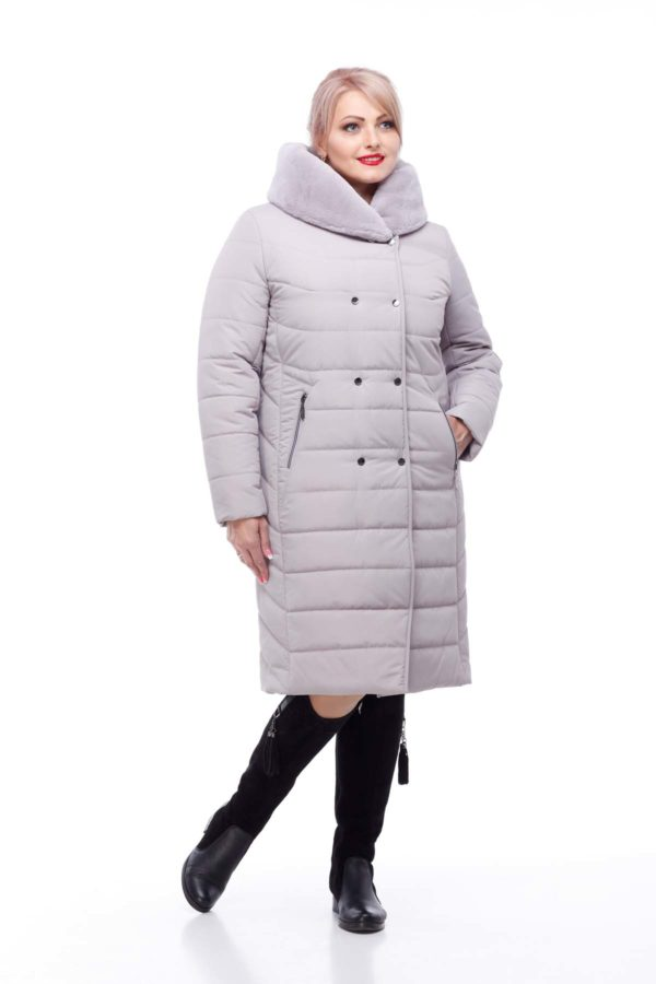 Зимнее пальто Ким кролик Зима лаванда