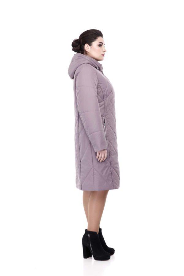 Пальто стеганое Леона аметистовый
