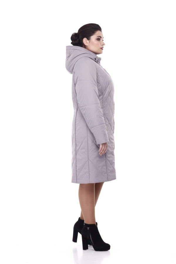 Пальто стеганое Леона сиренево-дымчатый