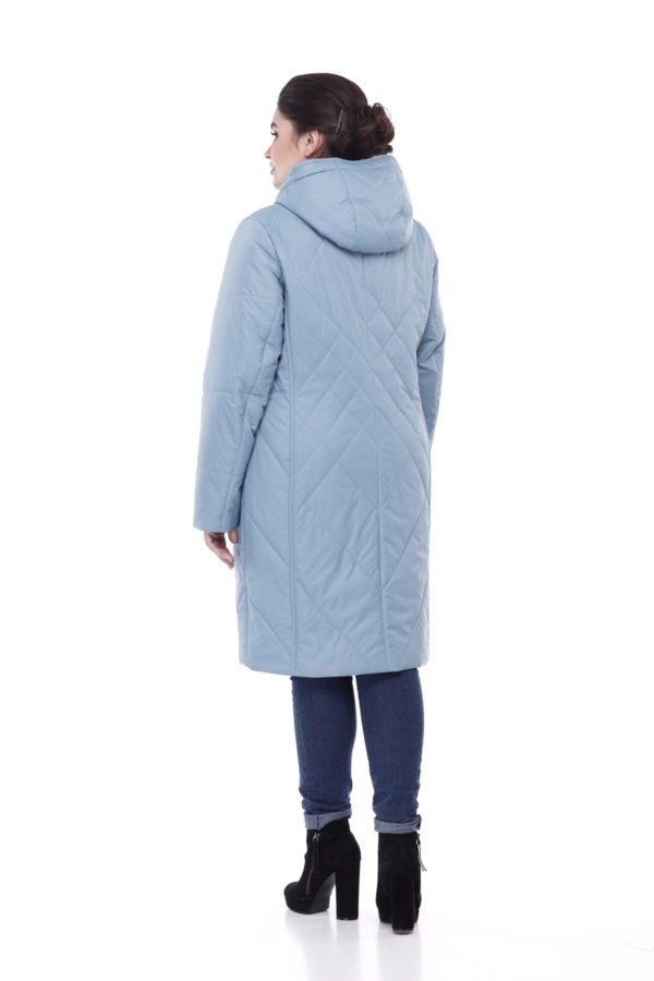 Пальто стеганое Леона морской зеленый
