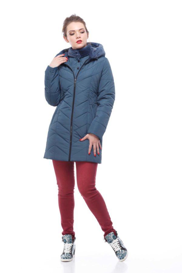 Куртка Стелла принц серо-синий