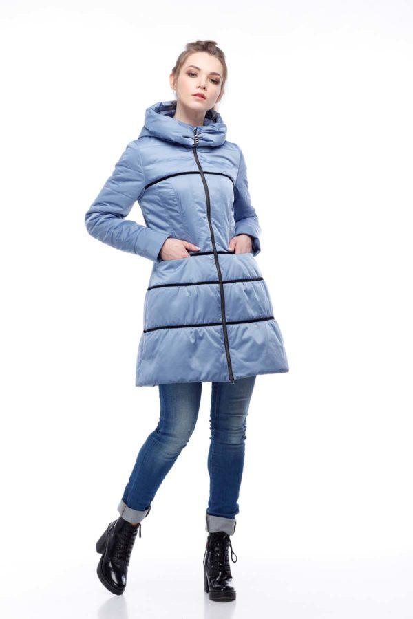 Пальто стеганое Василиса, атлас