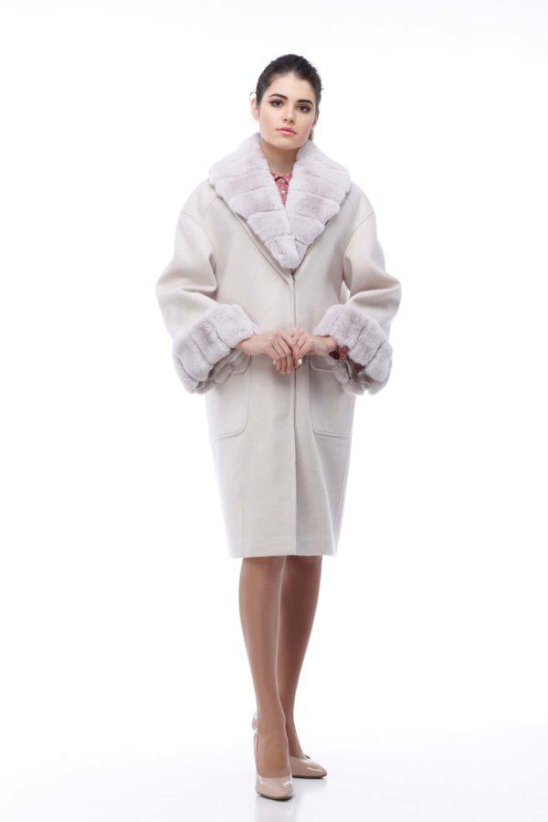 Зимнее пальто Монро зефирный