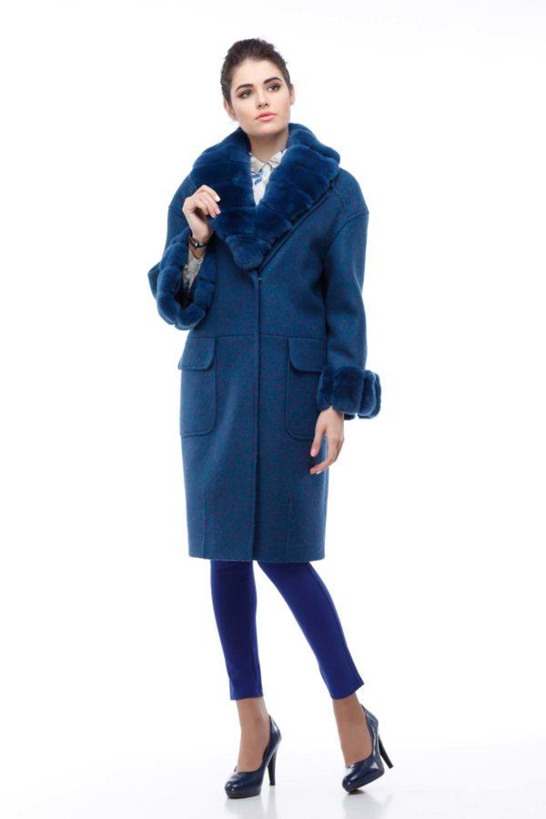 Зимове пальто Монро з утеплювачем смарагд