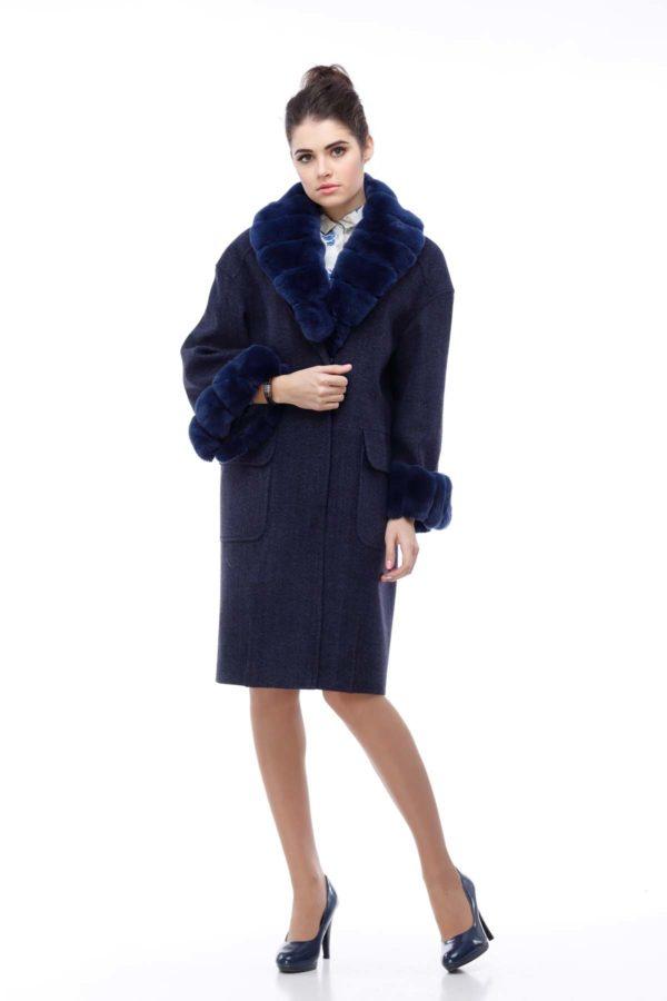 Зимнее пальто Монро темно-синий