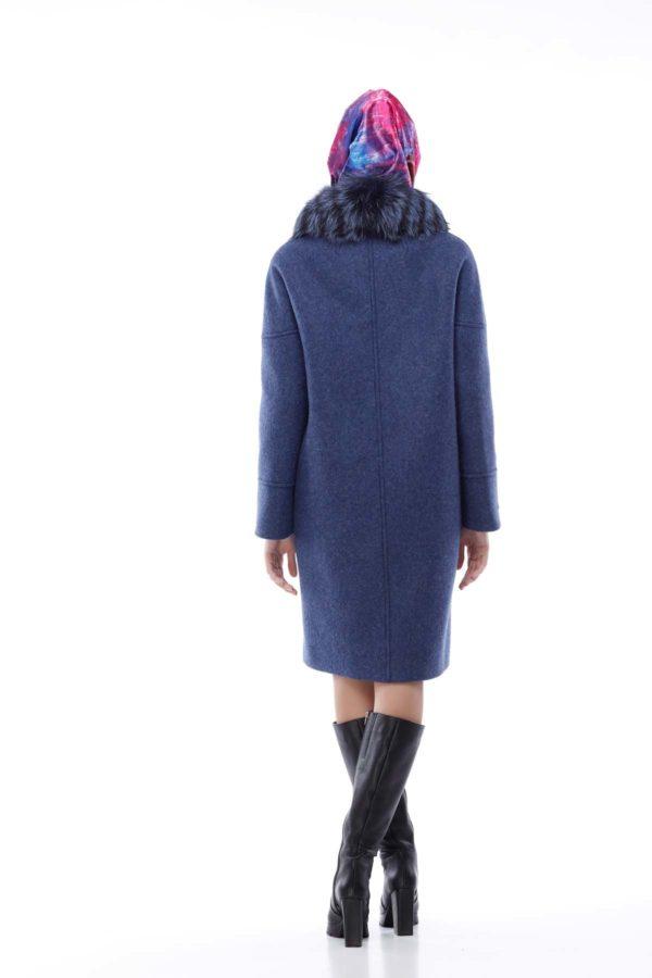 Зимове пальто Доменіка утепл. синій джинс