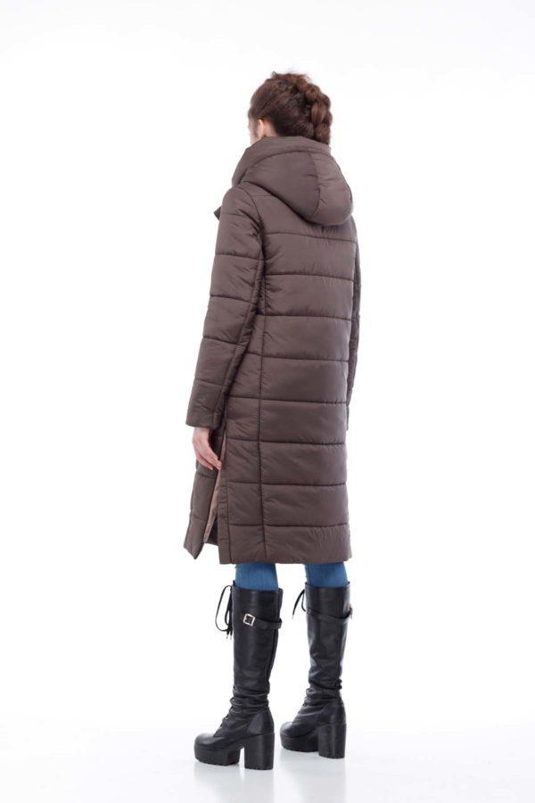 Зимнее пальто стеганое Вероника, ammy, шоколад
