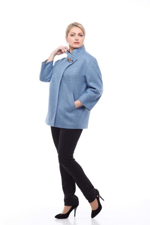 Пальто Ліберті сіро-блакитний меланж