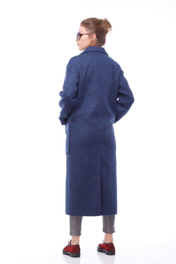"""Пальто Кімберлі, вовна """"nick"""" темно-синій"""