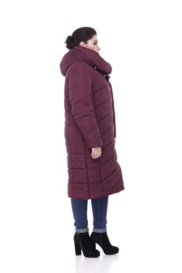 Зимнее пальто стеганое Вероника, ammy, слива