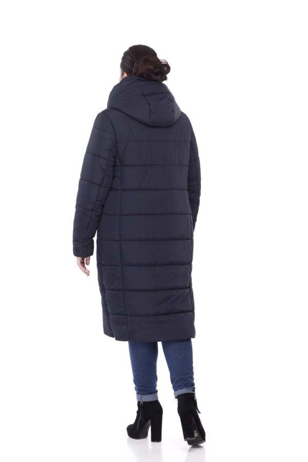Зимнее пальто стеганое Вероника, ammy, темно-синий
