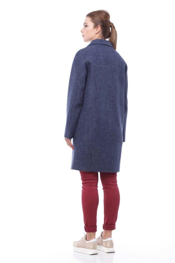 """Пальто Джоли, шерсть """"nick"""", синий джинс"""