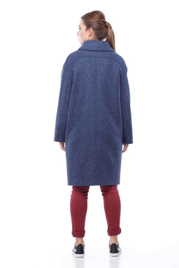 Пальто Аллегра, вовна Італія, синій джинс